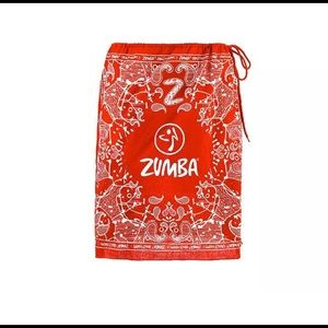 Zumba Bandana zip skirt!! RED